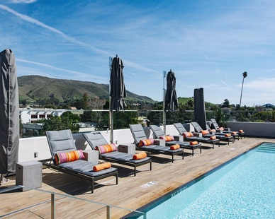Aqua Design International Hotel Cerro Hospitality Design Rooftop Swimming Pool Loungers