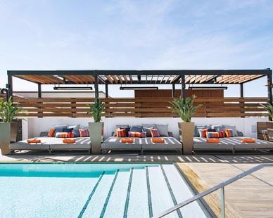 Aqua Design International Hotel Cerro Hospitality Design Rooftop Swimming Pool Pergola Shelter Lounging Area