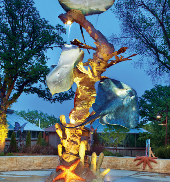 Stunning aquatic sculpture that displays precision and detail that will leave the customer in awe.