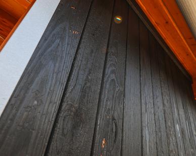 The Tashjian Bee and Pollinator Discovery Center showcases Arbor Wood's Brnsh Pine 210 Siding.