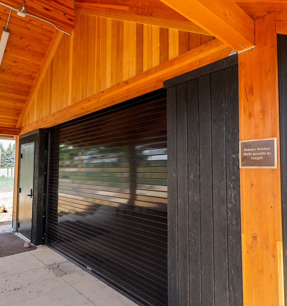 Arbor Wood's Brnsh Pine 210 Siding mixes beautifully with other siding material to provide the perfect texture.