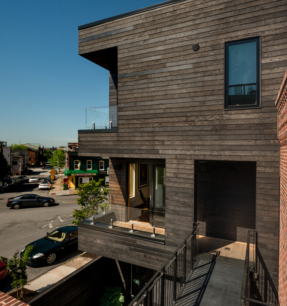 Baltimore Taphouse used Arbor Wood for the exterior cladding, they made a prime example of how high design paired with premium materials can make a home a work of art.