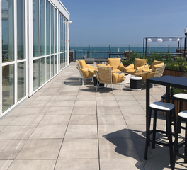 Archatrak Chicago Navy Pier Offshore Rooftop Deck Pavers Outdoor Guest Lounge