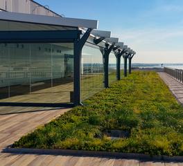 Archatrak International Spy Museum Outdoor Balcony Flooring and Greenery