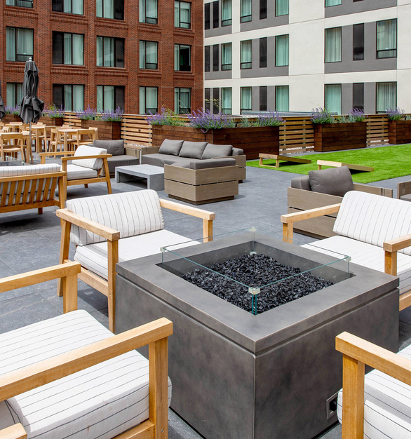 Archatrak Mercentile Residence Inn Missoula Montana Rooftop Deck Outdoor Furniture