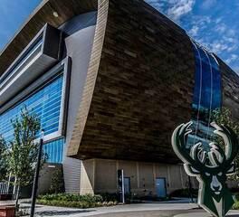 Arena Sports Complex Concrete Precast Facade with Brick and Glass facades