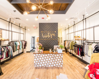 Chic and trendy retail store design at Arrow Boutique, by CO-OP Architecture.