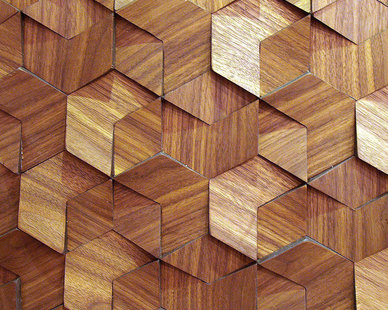 Close up view of ASI Architectural Systems' Crossfuse® Wood Panels - Walnut | Spec ID# WPFSN098