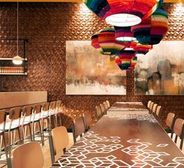 ASI Architectural Systems Crossfuse® Wood Panels Nandos Restaurant Feature Wall Design