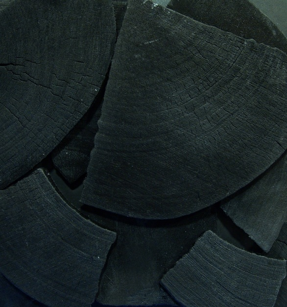 Close up view of ASI Architectural Systems' Fusión Wood Panels - Charred | Spec ID# WPFSN060
