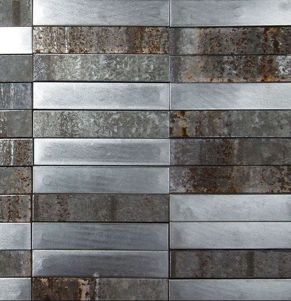 Close up view of ASI Architectural Systems' Metal Fusión Panels - Steel | Spec ID# WPFSN052
