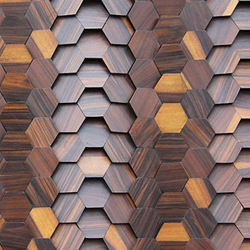 Close up view of ASI Architectural Systems' Crossfuse® Wood Panels - Ironwood | Spec ID# WPFSN096