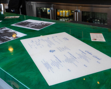 The new Papa's Rooftop Bar features numerous historic Stillwater and Waterstreet Inn photos inlaid into the countertops. Since the counter is on the roof, Granicrete's poreless surface is able to withstand the elements.