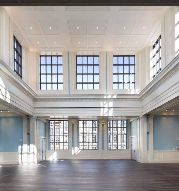 By recommendation of both SH Acoustics and Shen Milsom Wilke, co-acoustical consultant, BASWA Phon sound-absorbing plaster was utilized throughout the museum's architectural and theater spaces.