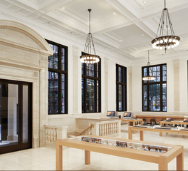 BASWA acoustic North America Retail Design Apple Store East Side New York Retail Classic Building Interior