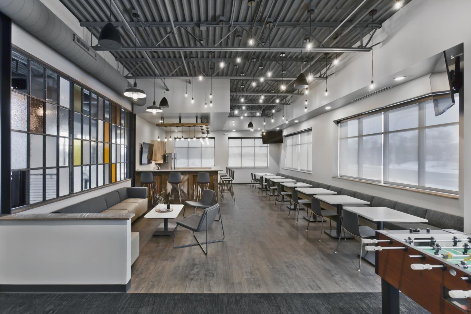 Bauer Design Build completed this 2-story office building that includes a large multipurpose lunch/training room.