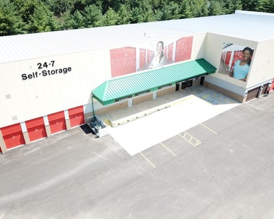 Exterior Arial Image of a Uhaul Self Storage unit in St. Louis, MO, by Bauer Design Build.