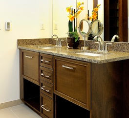 Bayer Interior Woods custom Double Bathroom Vanity