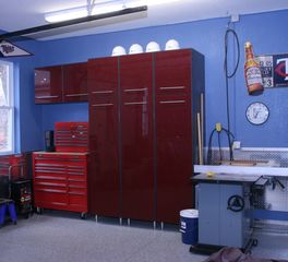 Bayer Interior Woods garage storage cabinets