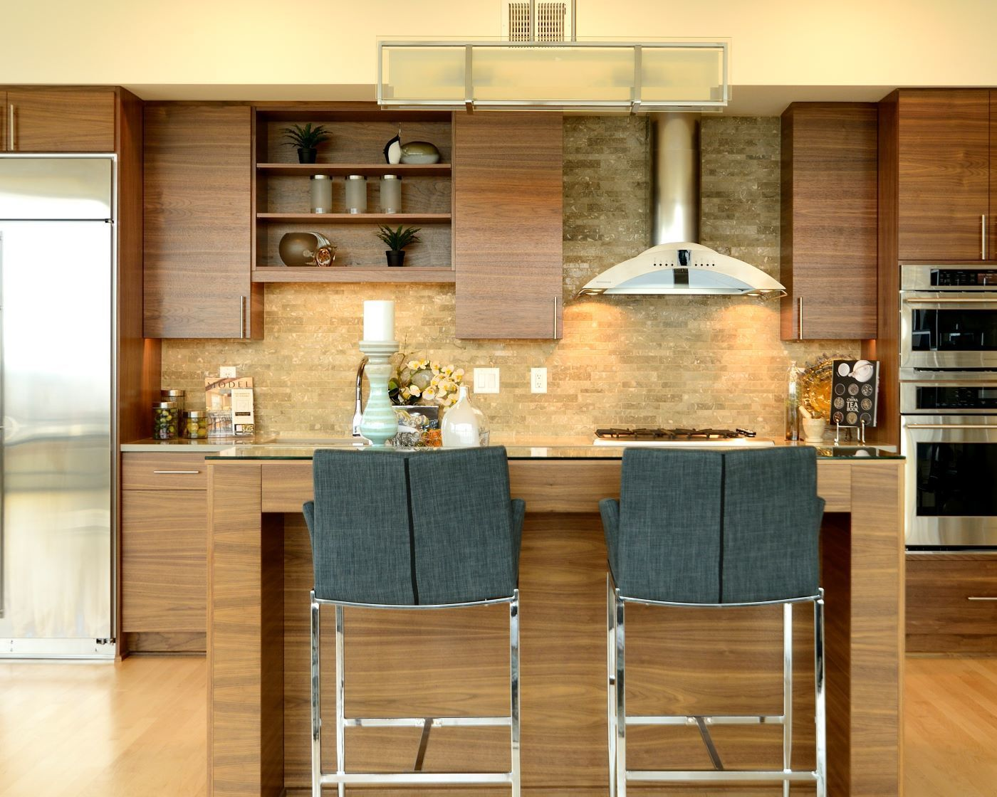 bayer interior woods modern frameless multi-unit kitchen ...