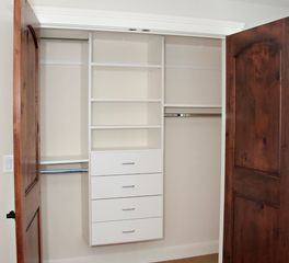 bayer interior woods multi-unit Laminated Closet Shelving