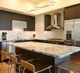 Bayer Interior Woods Portland Tower Luxury Condominiums Sleek Kitchen Cabinetry