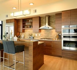 Bayer Interior Woods The Legacy Luxury Condominiums Sleek Modern Kitchen Cabinet Design