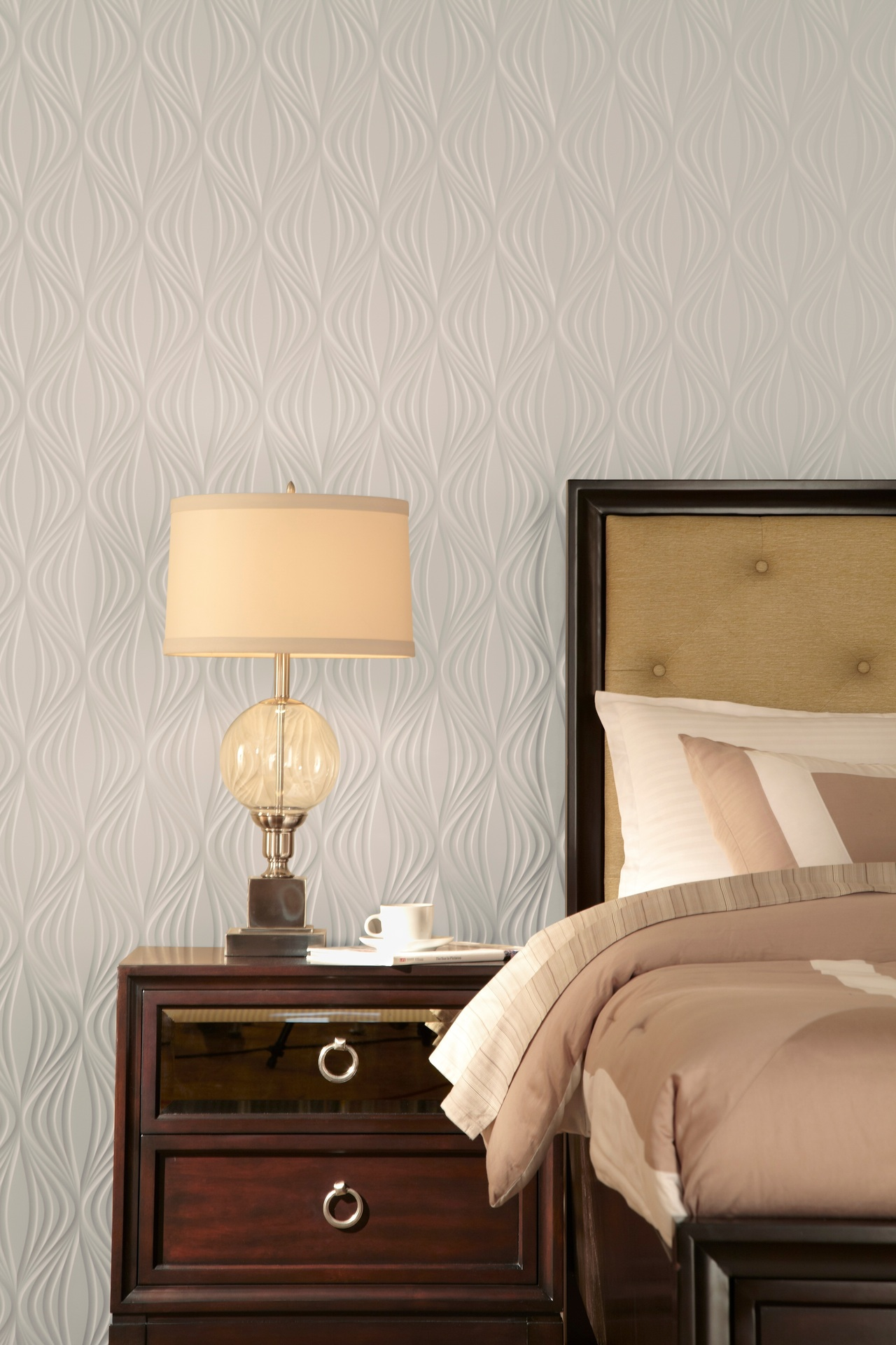 This textured wall panels are perfect addition to a bedroom or any space.