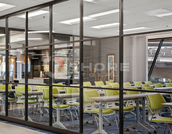 Trendway Volo Wall can create the aesthetic of custom millwork or perform like traditional drywall, with the practical advantages of movable walls. The unitized, non-progressive construction allows fast installation and reconfiguration.