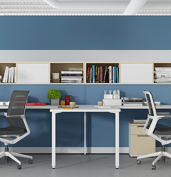 The balanced mechanism enables the user to move freely without distraction. Clean lines and a contoured seating space create an inviting place to focus on important things.