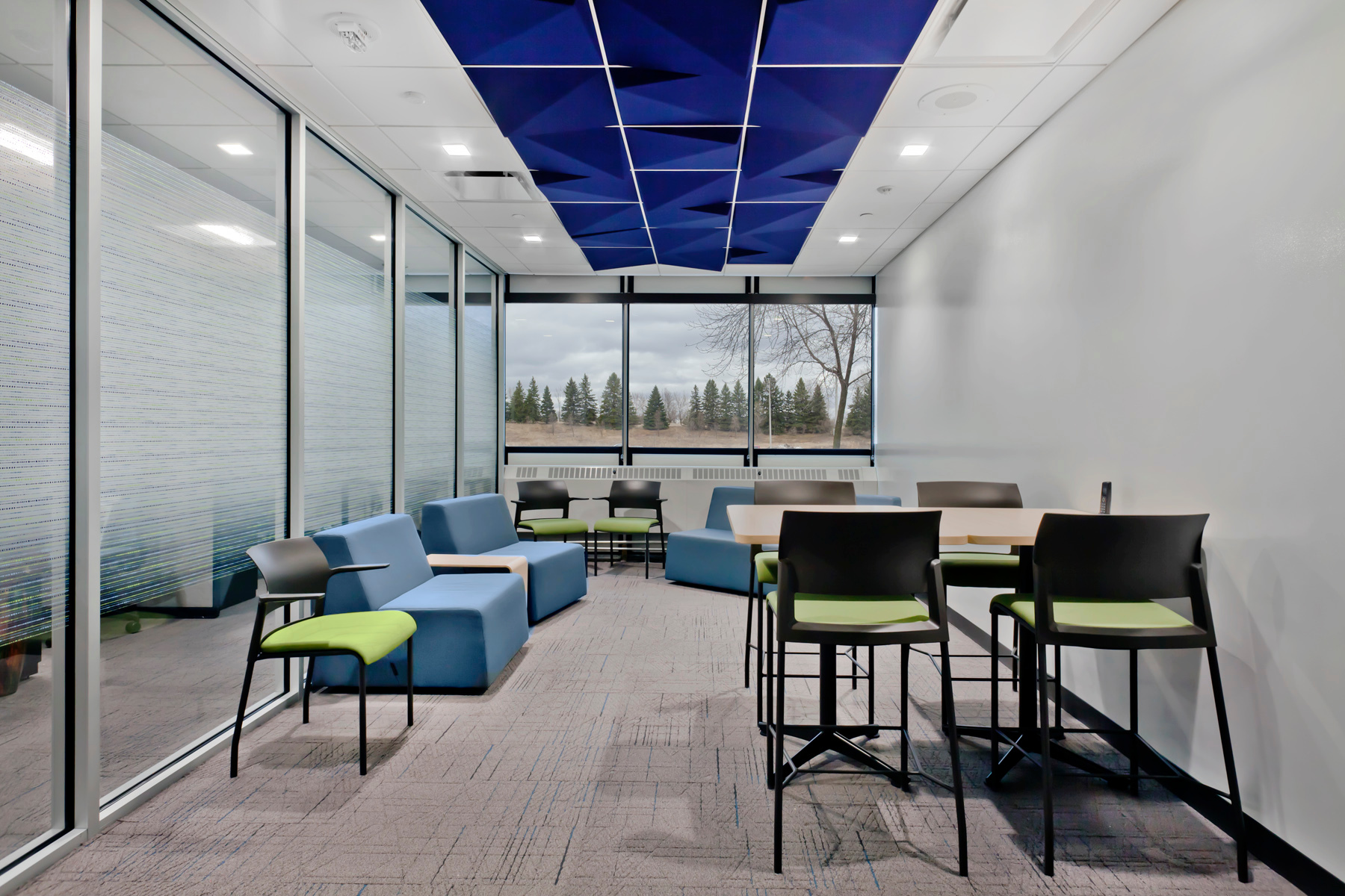 Open workspace can be found within the Vyriad offices in Rochester, Minnesota.