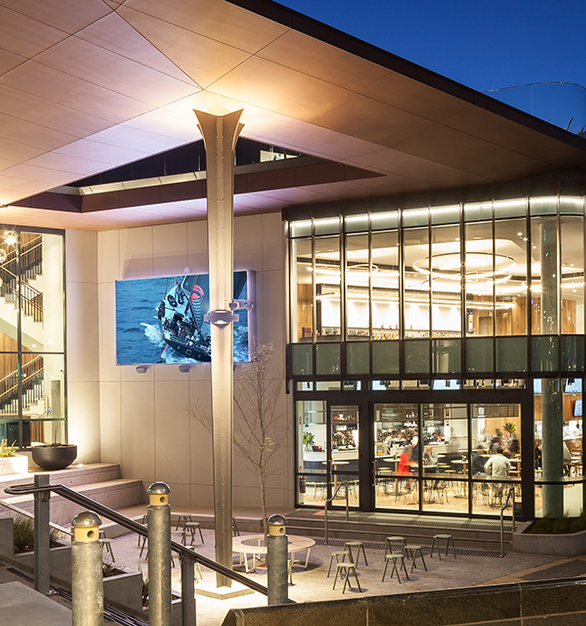 At night, the sports pub offers beautiful views for its patrons.  For commercial or residential settings, and compatibility with security, thermal and decorative glazing, TemperShield® is a versatile premium glass product, backed by a company with more than 30 years international experience.