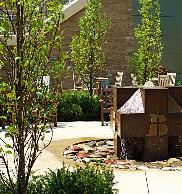Exterior Water Sculpture at the Bergan Mercy Medical Center in Omaha, NE