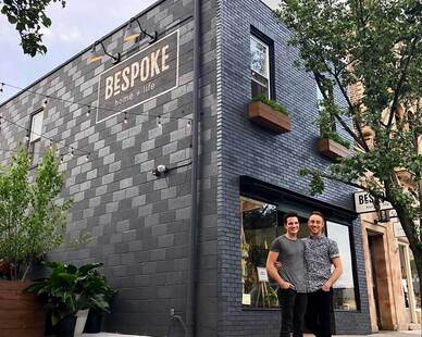 Eric and Patrick standing in front of their newly renovated Bespoke store in Collingswood, NJ.