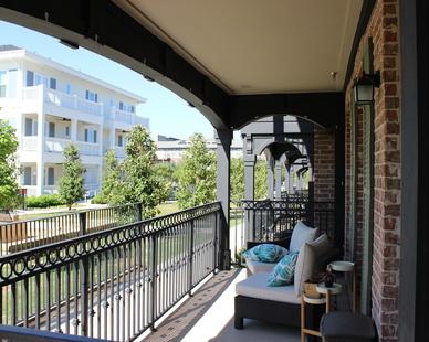 Balcony view towards building #11