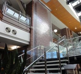 Bluworld of Water Standard Single Panel Water Wall Stairway Design