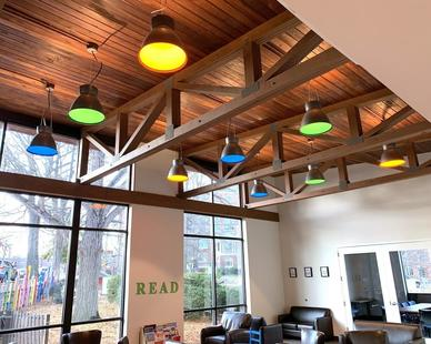 The BGL light by Bock Lighting has n optional up-light component which provides an even more customized appearance for any space.