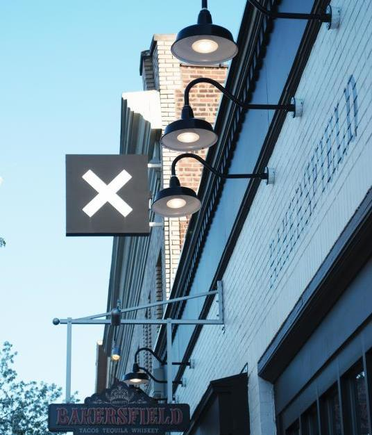 Bock Lighting's step neck dome lights are the perfect option for the exterior of any commercial building.