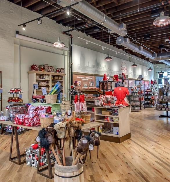 The Step Neck Dome lighting by Bock Lighting was the perfect addition to the Goo Goo Shop in Nashville, TN. 