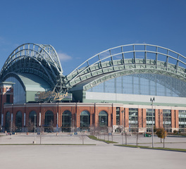 Brick Facade and Exterior View of Miller Baseball Park American Family Field in Milwaukee, WI