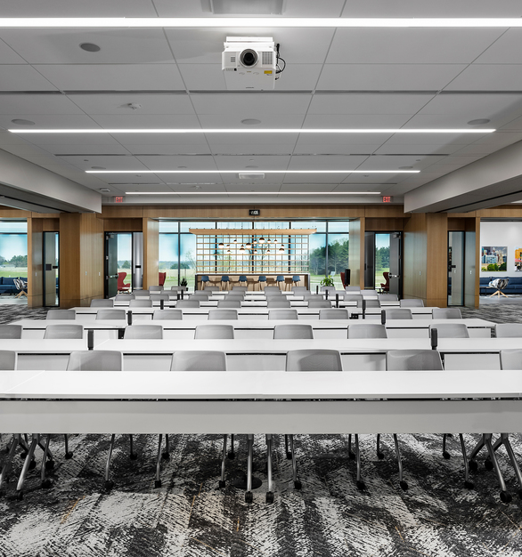 """""""We need our office to be bright and beautiful, allowing the ability for our employees to give their all every day,"""" said Rob TeKolste, president of Sammons Independent Annuity Group and West Des Moines site leader."""