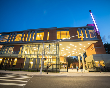 The gorgeous state-of-the-art performing arts building offers an outstanding set of venues, including rehearsal and performance spaces, set design and construction workshops, a double-height theater seating 200, a grand lobby and arcade, and classroom, meeting, and reception rooms.