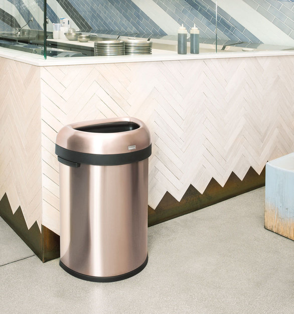 Any custom space needs the perfect trash can or recycling can. simplehuman has the look, color, and feel any restaurant is looking for.