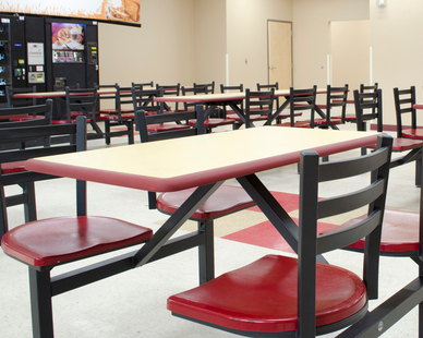 Great for cafeterias, lunchrooms, and restaurants--Square, round or rectangular, pick the table shape that best suits your needs and maximize your seating at the same time.
