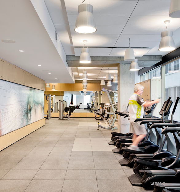 California Department of General Services Gym on Raised Access Floors