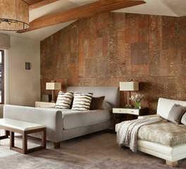 CaraGreen Pine Bark Wall Covering Laminates Yellowstone Club Bedroom Bark House