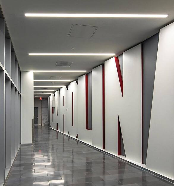 The University of South Carolina Long Family Football Operations Center is located in Columbia, SC featuring lighting products by Acuity Brands - Mark Architectural Lighting™. Project in collaboration with Quackenbush Architects + Planners and Acuity Brands agent JG Murphy. 