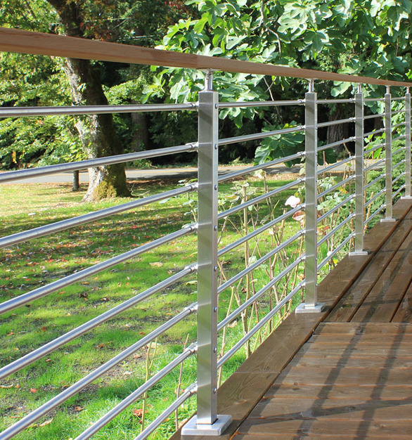 The Cascadia railing system is an innovative new concept that simplifies applications for slopes and stairs because it doesn't require a consultation or custom design work to meet Code. It can open up a spectacular view and create a distinctive look that will be sure to impress.
