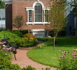 CBA Landscape Architects LLC Beverly Farms Library Park Pedestrian Pathway Plants and Greenery