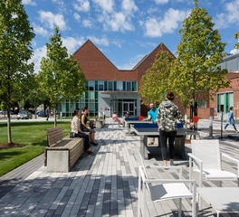 CBA Landscape Architects LLC Sidney Research Campus Outdoor Guests and Employee Gathering and Play Area